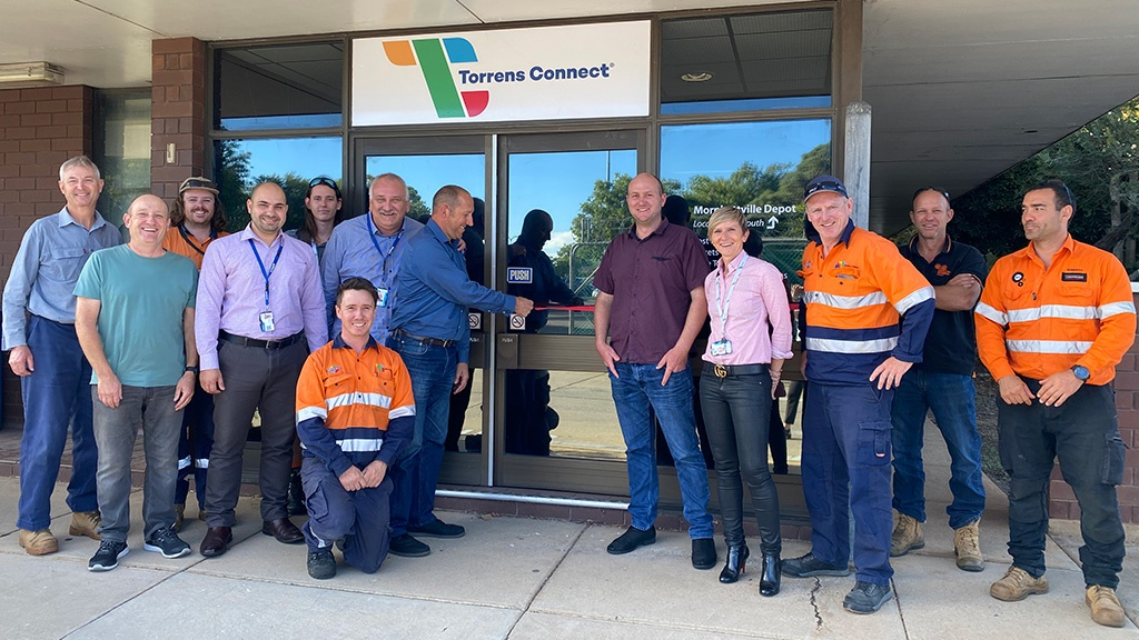 Torrens Connect employees a the opening of its new RIM premises.