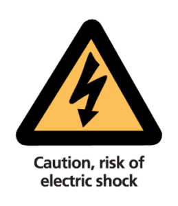 Caution, risk of electric shock
